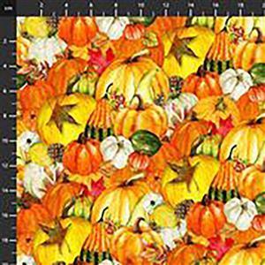 Harvest Whisper Mixed Pumpkin Fabric 0.5m