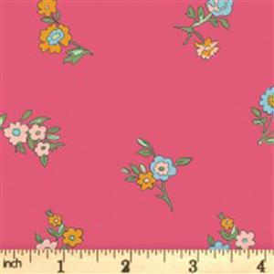 Liberty Cottage Garden Collection Pink Little Vine Fabric 0.5m