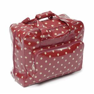 PVC Sewing Machine Bag In Red