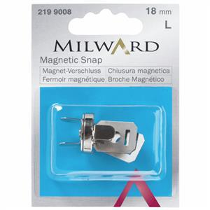 Milward Magnetic Snap in Silver (18mm)