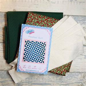 Living in Loveliness Christmas Pin Wheel Quilt Kit - Option 4