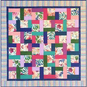 Village Fabrics Tropical Flowers Lap Quilt - Cream