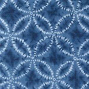 Sakuru Denim Blue Shippō Fabric 0.5m