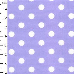 White Dots on Lilac Cotton Poplin Fabric 0.5m