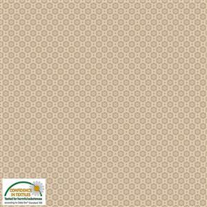 Hannah Basic Geo Florals On Sand Fabric 0.5m