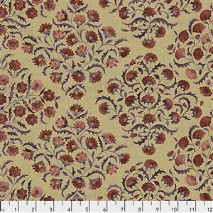 Sanderson Ottoman Flowers in Spice Fabric from Cashmere Range 0.5m