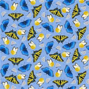 Sunny Sunflowers in Butterfly Fabric 0.5m