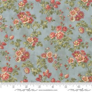 Moda 3 Sisters Memoirs Bouquets on Light Blue Fabric 0.5m