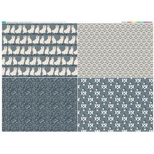 Staffordshire Mantelpiece Fat Quarter Set 2: 140cm x 107cm