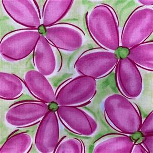Whimsy Daisical in Pink Daisy Field Fabric 0.5m