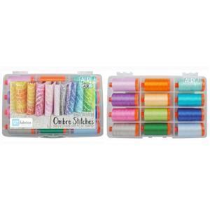 Aurifil Ombre Stitches by QT Fabrics Pack Of 12 Large Spools (12 x 1300m)
