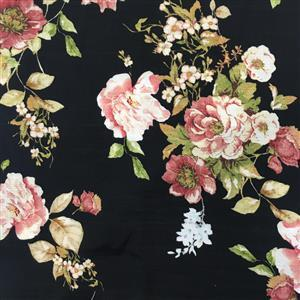 Country Roses Viscose Fabric 0.5m