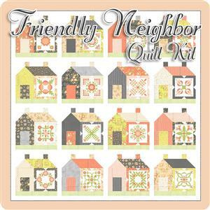 Moda Apricot & Ash By Corey Yoder Friendly Neighbor Quilt Kit (82