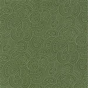 Ponga Koru Green Extra Wide Backing Fabric 0.5m (274cm Width)