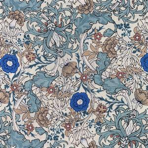 Country Floral Wild Side on Sky Blue Fabric 0.5m Exclusive