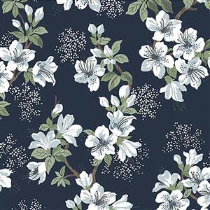 Michael Miller Janelle in Navy Fabric 0.5m