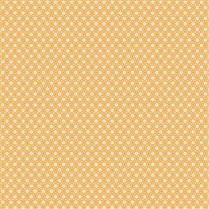 Poppie Cotton Chick-A-Doodle-Doo Florets on Yellow Fabric 0.5m