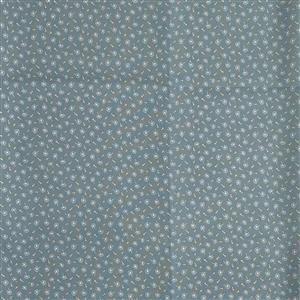 Woodland Songbirds in Fluffs Blue Fabric 0.5m