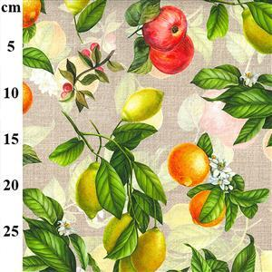 Mixed Fruits on Sand Fabric 0.5m