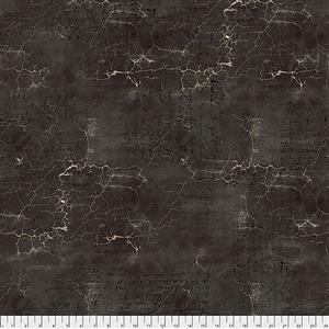 Tim Holtz Abandoned Cracked Shadow on Black Fabric 0.5m