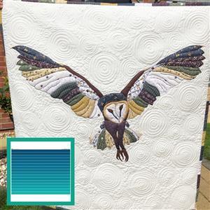 Delphine Brooks' Azure Owl Wall Hanging Kit: Instructions, Fabric Panel, FQ & Fabric (1m)