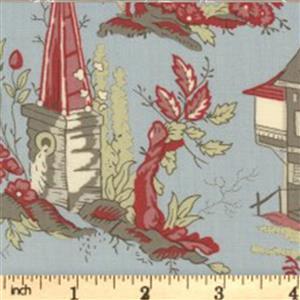 Moda Jardin De Fleurs Gray Garden Fabric 0.5m