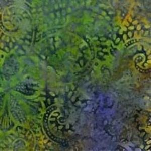 Artisan Bali Batik Green Fauna Fabric 0.5m
