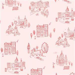 Riley Blake Notting Hill Attractions Blush Fabric 0.5m
