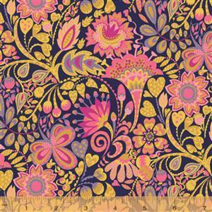 Solstice Windy on Ochre Fabric 0.5m