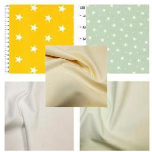 Yellow & Pistachio Star Baby Playmat Bundle FQ (4pcs) & Fabric (1.5m)