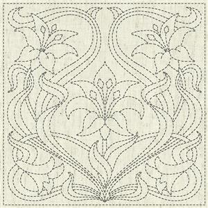 Sashiko Purity Fabric Panel 30 cm x 30 cm (12