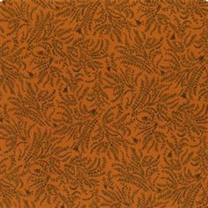 Henry Glass Esters Heirloom Shirtings Orange Toile Fabric 0.5m