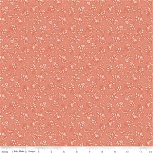 Riley Blake Tea With Bea Coral Hops Fabric 0.5m