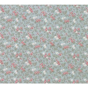 Moda Daybreak Nest Dewdrop on Blue Fabric 0.5m