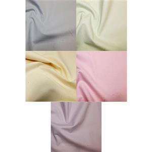 Pastel Plain 100% Cotton Fabric Bundle (2.5m). Save £2