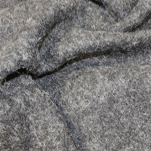 Silver Boiled Wool Fabric 0.5m