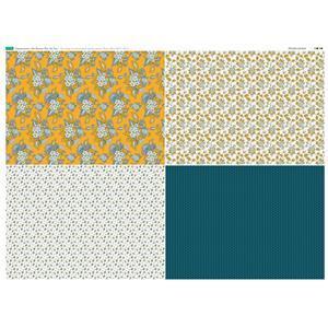 Copen Summer 4 FQ's Fabric Panel 2: 140 x 105cm: Exclusive
