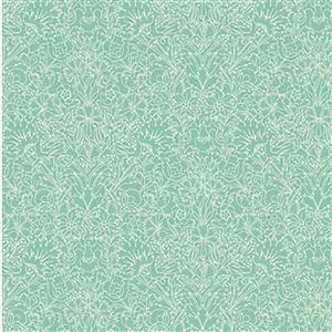 Liberty Emporium Collection Merchant Bright's Turner Turquoise Fabric 0.5m
