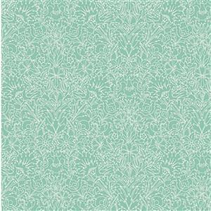 Liberty Emporium Collection Merchant Bright's Turner Turquoise Fabric 0.5m