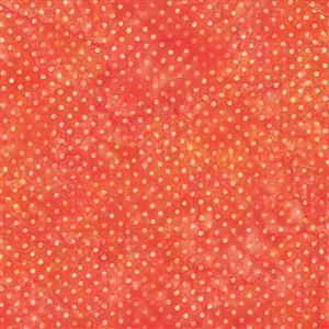 Bali Handpaints in Dotted Orange 0.5m
