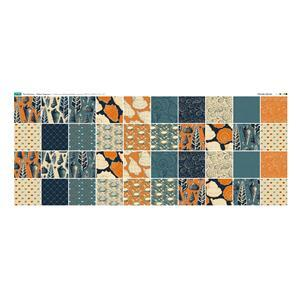 The Harbour Fabric Squares Panel. 140cm x 57cm. Exclusive