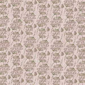 Lynette Anderson Swan Cottage Sprig Soft Pink Fabric 0.5m
