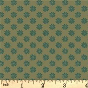 Liberty English Garden Collection Green Floral Dots Fabric 0.5m