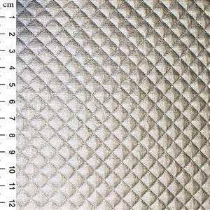PU Quilted Fabric Silver 0.5m