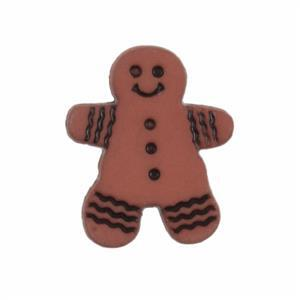 Gingerbread Man Button 18mm (25pc)