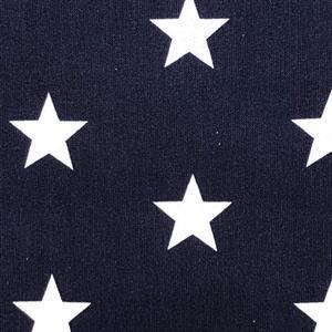 Large Star Navy Fabric 0.5m