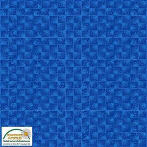 Stof Quilters Co-Ordinates Checkers Blue Fabric 0.5m