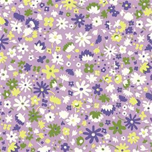Liberty Carnaby Collection Bloomsbury Blossom Purple Fabric 0.5m