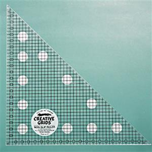 Creative Grids Non-Slip 45° Metric Triangle Ruler