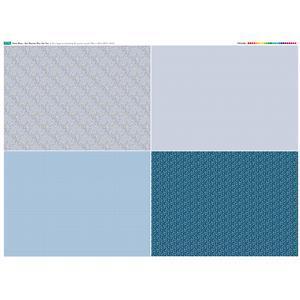 Misty Blue Fat Quarter Fabric Panel Set 2 - 140 x 108cm